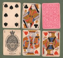 Antique Collectible playing cards Bezique by de la Rue 1880